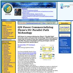 QM Power Commercializing Flynn's OU Parallel Path Technology