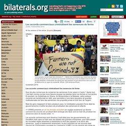 Les accords commerciaux criminalisent les semences de ferme