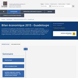 Commerce extérieur - Stabilité des échanges commerciaux−Bilan économique 2015 - Guadeloupe