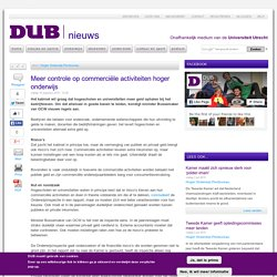 Meer controle op commerciële activiteiten hoger onderwijs