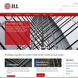 Jones Lang LaSalle. Global Commercial Real Estate Services. Investment Management