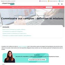 Commissaire aux comptes : définition et missions
