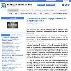 La Commissaire Kroes s'engage en faveur de la Neutralité du Net