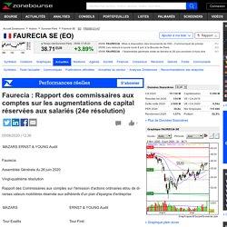Faurecia : Rapport des commissaires aux comptes sur les augmentations de capital réservées aux salariés (24e résolution)