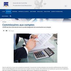 Commissaires aux comptes