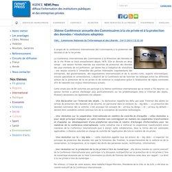 36ème Conférence annuelle des Commissaires à la vie privée et à la protection des données / résolutions adoptées - CNIL - Commission Nationale de l'Informatique et des Libertés