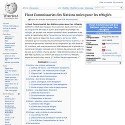 Haut Commissariat des Nations unies pour les réfugiés