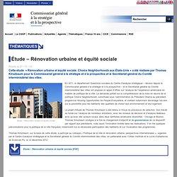 Étude – Rénovation urbaine et équité sociale
