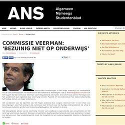 Commissie Veerman: 'Bezuinig niet op onderwijs'