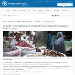 FAO - JUILLET 2014 - Commission du Codex Alimentarius - Genève, 14-18 juillet 2014. Au sommaire: Limites maximales autorisées pour l'arsenic inorganique dans le riz poli