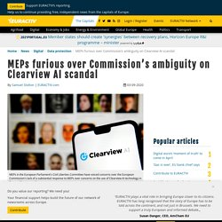 MEPs furious over Commission's ambiguity on Clearview AI scandal