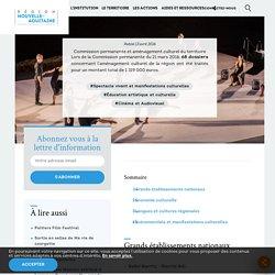 """Région Nouvelle-Aquitaine - voir le § """"Événementiels et manifestations culturelles"""" en bas de page"""