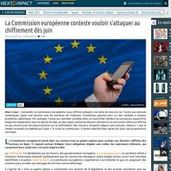 La Commission européenne conteste vouloir s'attaquer au chiffrement dès juin