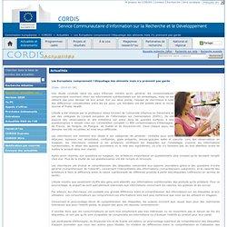 CORDIS 26/01/10 Les Européens comprennent l'étiquetage des aliments mais n'y prennent pas garde