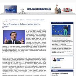 Pour la Commission, la France est au bord du gouffre