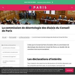Paris - Code de déontologie