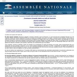 Commission d'enquête relative aux tarifs de l'électricité