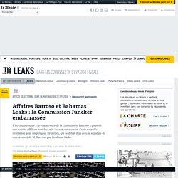 Affaires Barroso et Bahamas Leaks: la Commission Juncker embarrassée