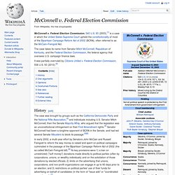 McConnell v. Federal Election Commission
