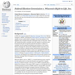Federal Election Commission v. Wisconsin Right to Life, Inc.