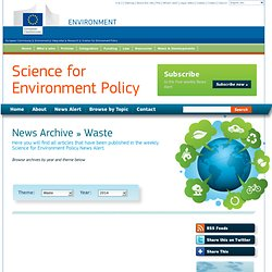 European Commission - Science for Environment Policy