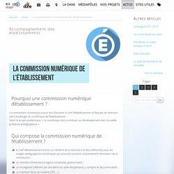 La commission numérique de l'établissement - Délégation académique au numérique éducatif