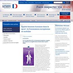 Égalité femmes-hommes dans le sport : la Commission européenne se mobilise