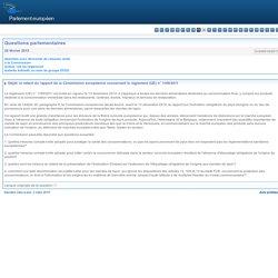 PARLEMENT EUROPEEN - Réponse à question O-000018/2015 le retard du rapport de la Commission européenne concernant le règlement (UE) n° 1169/2011