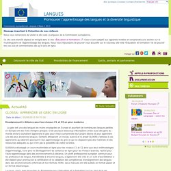 GLOSSA: APPRENDRE LE GREC EN LIGNE - Commission européenne