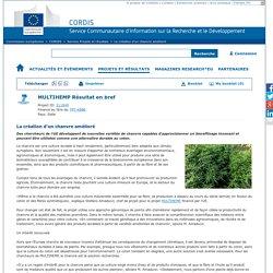 CORDIS EUROPA - Projet de recherche 2017 - La création d'un chanvre amélioré Des chercheurs de l'UE développent de nouvelles variétés de chanvre capables d'approvisionner un bioraffinage innovant et pouvant être utilisées comme une alternative durable au