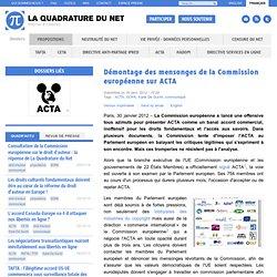 Démontage des mensonges de la Commission européenne sur ACTA