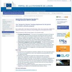 Futur programme 2014-2020 - Commission européenne