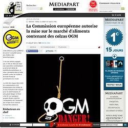 La Commission européenne autorise la mise sur le marché d'aliments contenant des colzas OGM