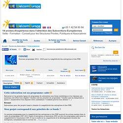 COSME - Programme de la Commission Europeenne