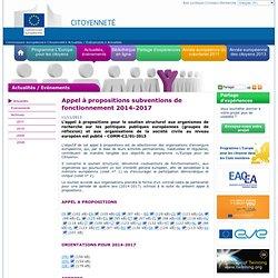 Programme «L'Europe pour les citoyens» (2014-2020) - Commission européenne