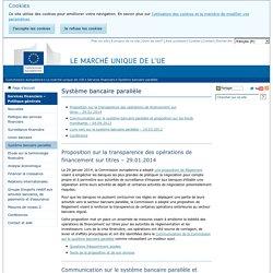 Système bancaire parallèle - Commission européenne