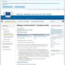 Dialogue social sectoriel - Emploi, affaires sociales et inclusion - Commission européenne
