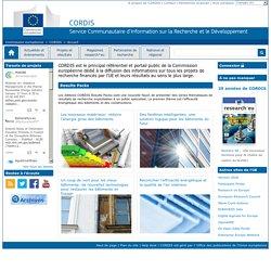 Commission européenne : CORDIS : Accueil