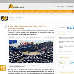 La Commission européenne présente son plan de relance post-Covid-19