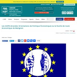 Les GOPE fixées par la Commission européenne publiées