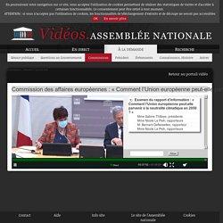 ASSEMBLEE NATIONALE 13/01/21 Audition : Commission des affaires européennes : « Comment l'Union européenne peut-elle parvenir à la neutralité climatique en 2050 ? »