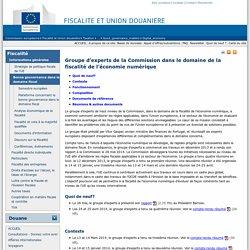 Groupe d'experts de la Commission dans le domaine de la fiscalité de l'économie numérique - European commission