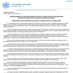 Troisième Commission: Le Secrétaire général adjoint aux affaires politiques juge nécessaire de garantir l'impartialité de l'ONU dans l'assistance électorale