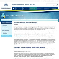 National Water Commission - Indigenous access to water resources