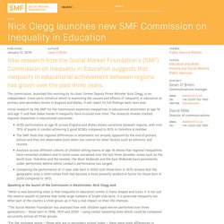 Nick Clegg launches new SMF Commission on Inequality in Education