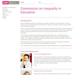 Commission on Inequality in Education