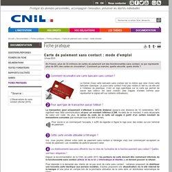 Carte de paiement sans contact : mode d'emploi - CNIL - Commission nationale de l'informatique et des libertés