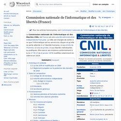 Commission nationale de l'informatique et des libertés (France)