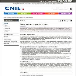 Affaire PRISM: ce que fait la CNIL