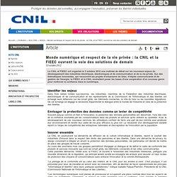 Monde numérique et respect de la vie privée : la CNIL et la FIEEC ouvrent la voie des solutions de demain